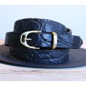 Embossed Leather Stirrup Belt