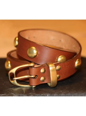 Studded Leather Stirrup Belt