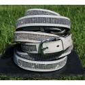 Patent Leather Diamante Belt