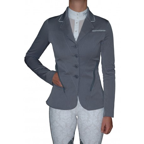 Grey Top-Stitched 'Illusion' Jacket