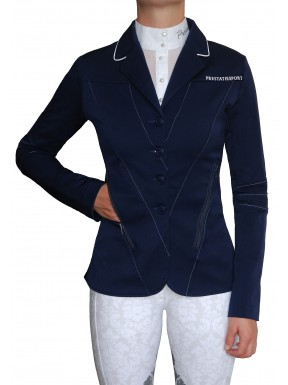 Navy Top-Stitched 'Illusion' Jacket