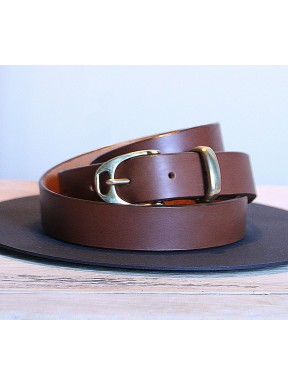 Brown Leather Stirrup Belt